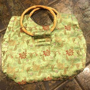 satin brocade purse